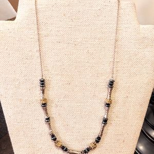Silpada sterling silver black onyx necklace